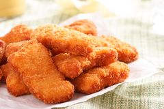 Several pieces of chicken nuggets Royalty Free Stock Images
