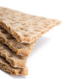 Several pieces of crisp cereal bread Stock Image