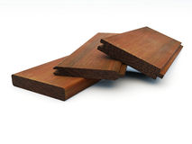 Several pieces of grooved wooden boards Royalty Free Stock Photos