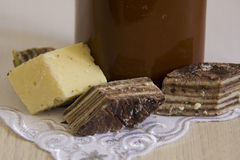 Several pieces of halva Royalty Free Stock Photography