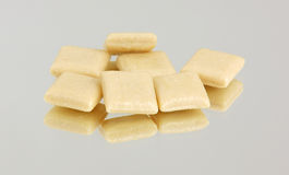 Several pieces of nicotine gum Royalty Free Stock Photography
