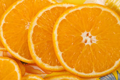 Several pieces of orange Stock Photography
