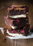 Several pieces of raspberry brownie Royalty Free Stock Image