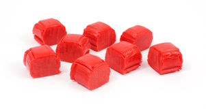 Several pieces of strawberry candy Stock Photography