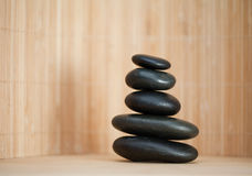 Several piled up pebbles Stock Images