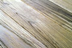Several planks of beautiful laminate or parquet flooring with wo Stock Image