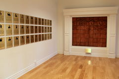 Several plaques on walls inside Hall of Fame, National Museum of Dance,Saratoga Springs,New York,2016 Stock Image