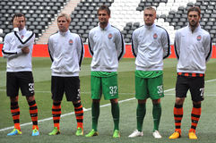 Several players of Shakhtar Stock Image