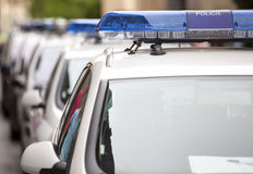 Several police car Royalty Free Stock Photos