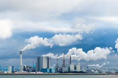 Several power plants Stock Image