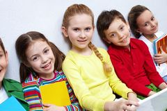 Several pupils Stock Photo