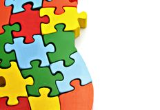 Several puzzle pieces Royalty Free Stock Image