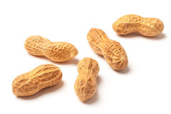 Several Raw Peanuts Stock Images
