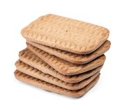 Several rectangular chip cookies royalty free stock photography