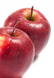 Several red apples on white background Royalty Free Stock Photos