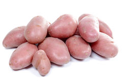 Several red potatoes isolated on white background Royalty Free Stock Photos