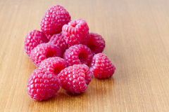 Several red ripe raspberries Royalty Free Stock Photography
