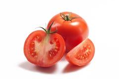 Several Red Tomato On White