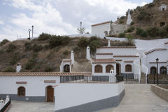 Several restored cave houses near Guadix, Andalusia, Spain Royalty Free Stock Image