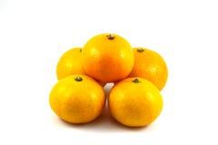 Several ripe orange isolated on white background, orange. Several ripe orange isolated on white background,  orange Royalty Free Stock Images