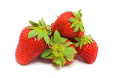Several Ripe Strawberries Royalty Free Stock Image