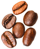 Several roasted coffee beans Royalty Free Stock Images
