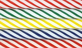 Several rows of birthday candles Royalty Free Stock Photography