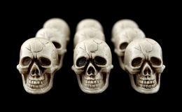 Several rows of Halloween skulls Royalty Free Stock Photos