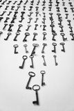 Several rusty keys Stock Photography