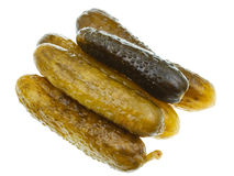 Several salted cucumbers Stock Image