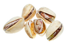 Several salted pistachio nuts close up Royalty Free Stock Photography