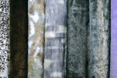 Several samples of artificial fur Royalty Free Stock Photography