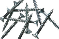 Several screws royalty free stock image