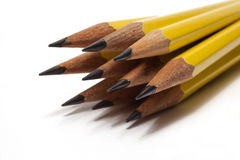 Several Sharpened Pencils. Collection of several sharpened pencils Royalty Free Stock Photo