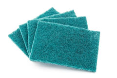 Several sheets of scrub sponge. On white background Stock Photography