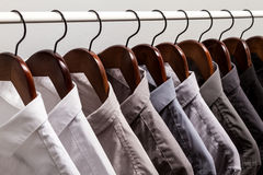 Several shirts on a hanger Royalty Free Stock Images