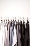 Several shirts on a hanger Royalty Free Stock Photos