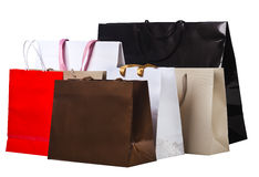 Several shopping bags. Royalty Free Stock Photo