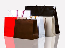 Several shopping bags. Royalty Free Stock Photography