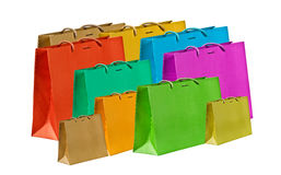 Several shopping bags. Stock Image