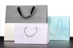Grey, Violet Shopping Bag. Stock Photo - Image: 39444025