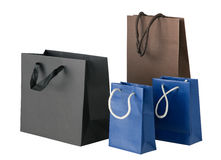 Several shopping bags. Royalty Free Stock Photos