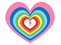 Several size and color of hearts Stock Photos