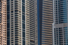 Several skyscrapers in Dubai Royalty Free Stock Photo