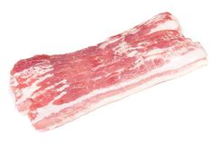 Several slices of bacon royalty free stock images