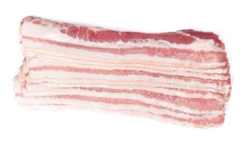Several slices of bacon royalty free stock image