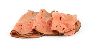 Several slices of fresh roast beef Royalty Free Stock Image
