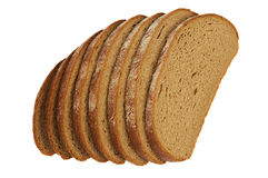 Several slices of rye bread Royalty Free Stock Image