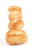 Several small onion buns Royalty Free Stock Image