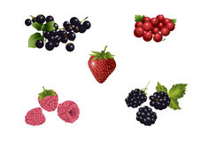 Several sorts of soft fruits Royalty Free Stock Images